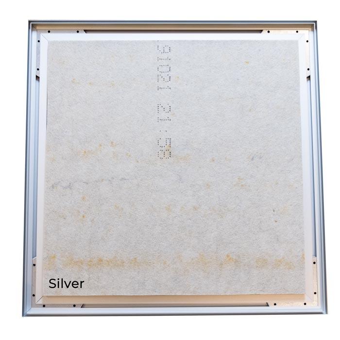 Enkelsidig Sound Frame med silver profil - ljudabsorbent