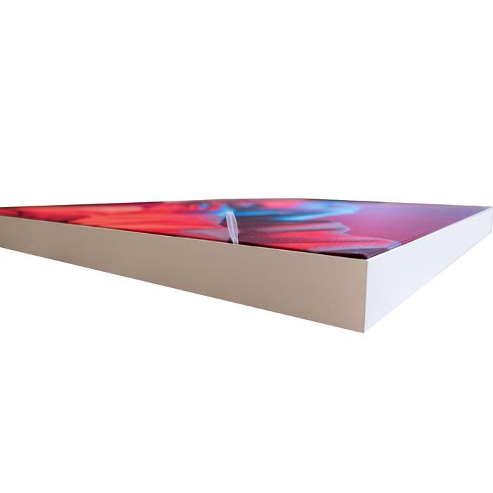 Enkelsidig Sound Frame med silver profil - kant