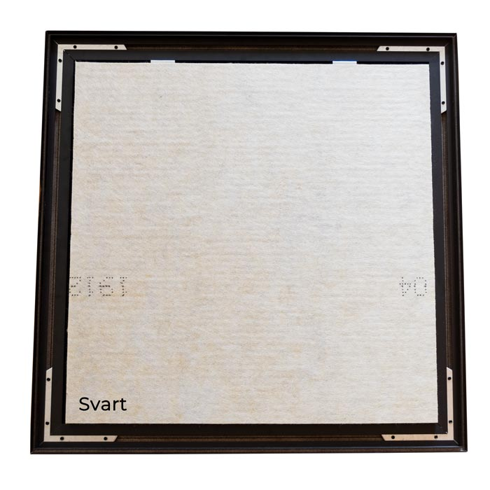 Enkelsidig Sound Frame med svart profil - ljudabsorbent