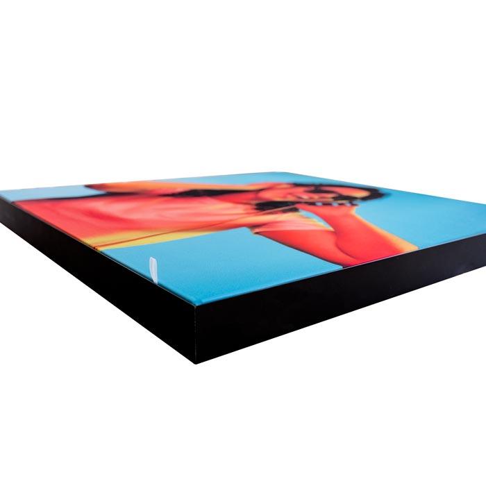 Enkelsidig Sound Frame med svart profil - kant