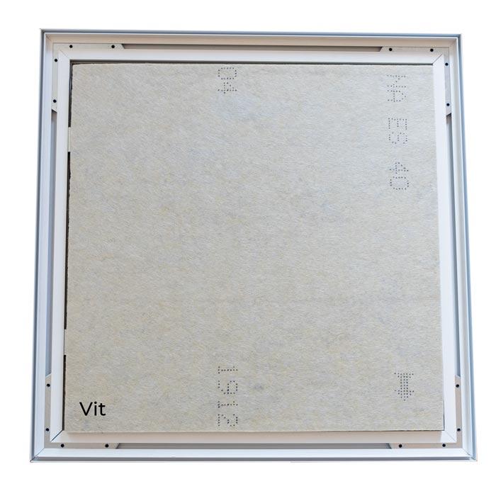 Enkelsidig Sound Frame med vit profil - ljudabsorbent