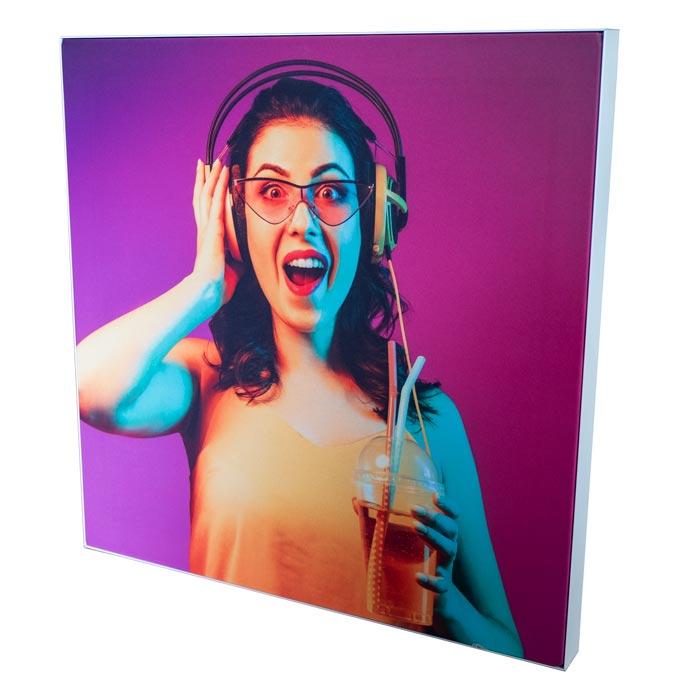 Enkelsidig Sound Frame i Vitt - Akustiktavla