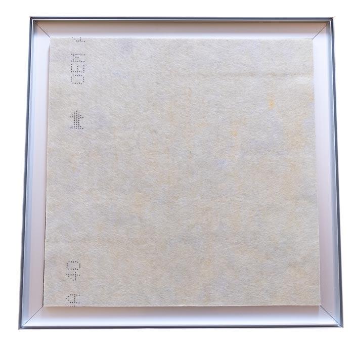 Dubbelsidig Sound Frame med silver profil - ljudabsorbent