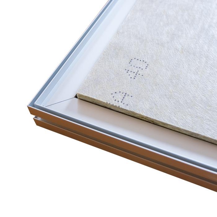 Dubbelsidig Sound Frame med silver profil - baksida