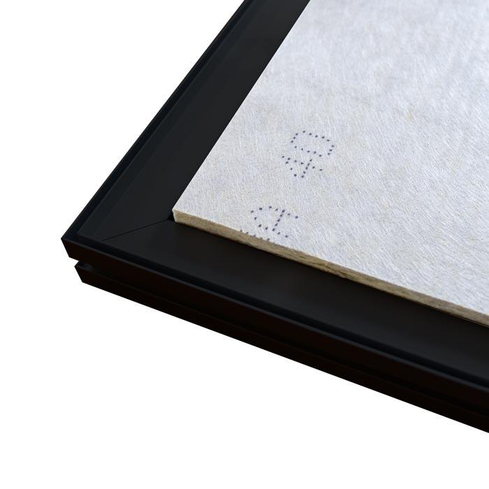 Dubbelsidig Sound Frame med svart profil - baksida