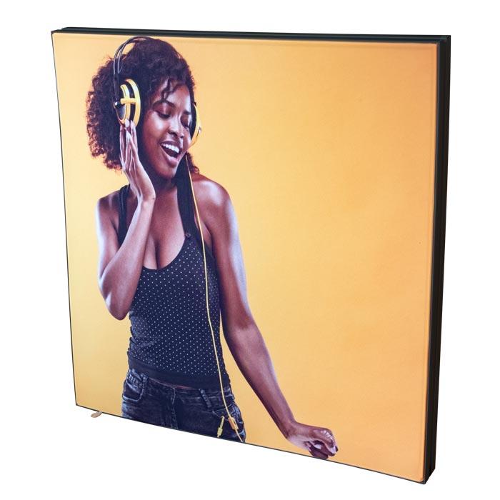 Dubbelsidig Sound Frame med svart profil
