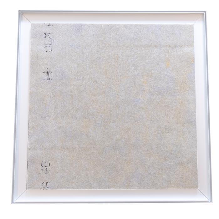 Dubbelsidig Sound Frame med vit profil - ljudabsorbent