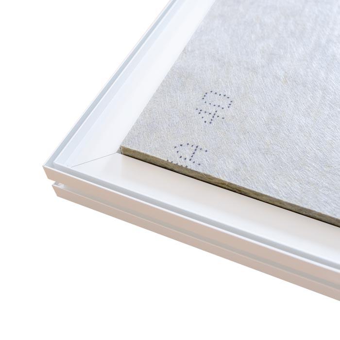 Dubbelsidig Sound Frame med vit profil - baksida