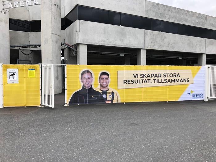 BK Häcken - Staketvepor på Bravida Arena