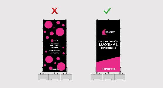Skapa den bästa layouten för din banderoll