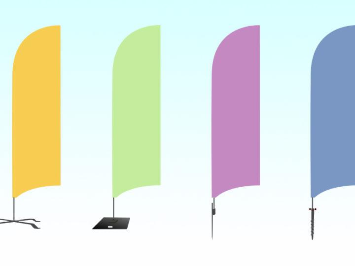 4 olika markfästen att placera din beachflagga på